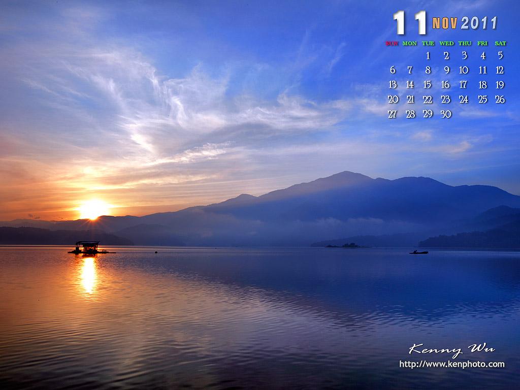 武陵春樱 月历桌面图片
